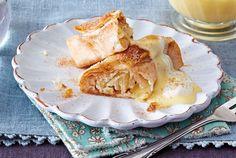 Unser beliebtes Rezept für Mini-Apfelstrudel mit Marzipan & Vanillesoße und mehr als 55.000 weitere kostenlose Rezepte auf LECKER.de.