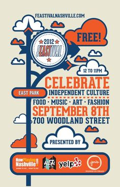 FREE FESTIVAL - Sat, 09/08 in East Park: Music, Art, Fashion, Food and Community equal history in the making for East Nashville. Click pic for more details