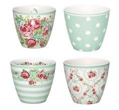 latte cups Doris, Candy, June, Naomi mint from GreenGate