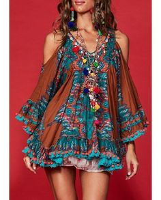 boho and beer Gypsy Style, Boho Gypsy, Bohemian Style, Hippie Outfits, Chic Outfits, Fashion Outfits, Fashion Tips, Couture Fashion, Boho Fashion
