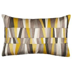 John lewis Geometrics Cushion, Yellow and black £35 for conservatory