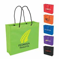 Rope handle shopper tote bag - Trade Show Promotions