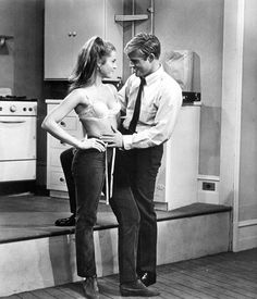 Jane Fonda and Robert Redford. Barefoot in the Park (1967).