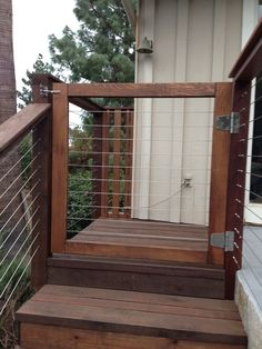 Outdoor Deck Ideas – As soon as you finished design the interior of the house, you will start planning the layout of house outside area. Outdoor deck idea is one . Read More Awesome DIY Exotic Raised Deck Plans you should try for your entertaining Koi Pond Design, Deck Design, Deck Plans, Pergola Plans, Wire Deck Railing, Steel Railing, Cable Railing, Deck Stairs, Deck Gate