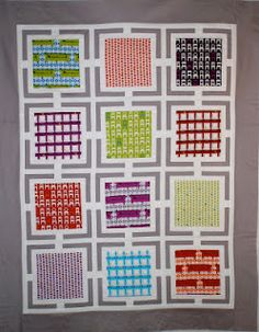 Wonderful picture frames quilt by Phone Home Designs by E.T using Tufted Tweets by Laurie Wisbrun.
