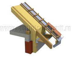 Slanted roofs: shapes & sizes/ Acoperisuri cu panta: forme si dimensiuni >> Drain with round gutter & pipe/ Scurgere cu jgheab si burlan rotund