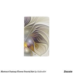 Abstract Fantasy Flower Fractal Art Pocket Moleskine Notebook