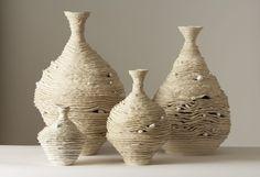 Linda Dangoor, Stoneware with white glaze     Go BackNext Image