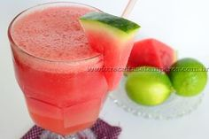 Suco de melancia com limão   Receitas e Temperos Mais