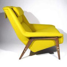 Folke Ohlsson; Beech Frame Lounge Chair for Dux, c1960.