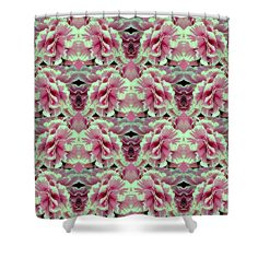 le pink Shower Curtain by Meiers Daniel