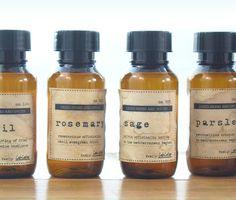 free herb label download