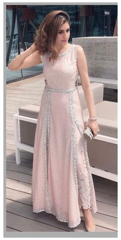 Indian Fashion Dresses, Indian Gowns Dresses, Dress Indian Style, Pakistani Dresses, Pink Dresses, Fashion Skirts, Pakistani Suits, Fashion Pants, Indian Wedding Outfits