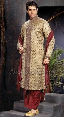 Banarsi Jamewar Men's Sherwani.