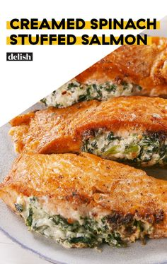 Creamed Spinach Stuffed Salmon Uses The Best HackDelish
