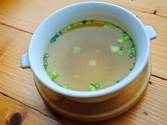 Coriander And Lemon Clear Soup Recipe