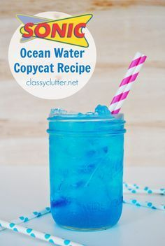 Sonic Ocean Water Copycat Recipe - Who doesn't love Sonic drinks?!?  Especially in the summer!  Can't wait to try this delicious looking drink from http://classyclutter.net!