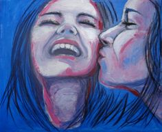 FINEARTSEEN - View Friends - Girls Best Friends by Carmen Tyrrell. An original portrait painting. Available on FineArtSeen - The Home Of Original Art. Enjoy Free Delivery with every order. << Pin For Later >>