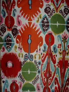 Luli Sanchez...I am a bit over the ikat craze, it's been done to death, but this fabric will always slay me! Gorgeous!