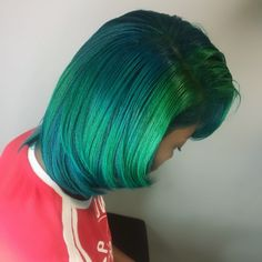 Natural Hair Highlights, Black Hair With Highlights, Natural Hair Styles For Black Women, Long Hair Styles, Blue Ombre Hair, Turquoise Hair, Green Hair, Protective Styles, Hairstyles