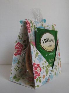 Tea and Cookies Holder Card 2 by Sweet Irene (great idea!) - could use as a party favor or a sweet gift for a friend.