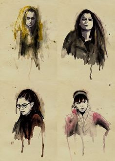 Orphan Black (well done! Orphan Black, Top Tv Shows, Movies And Tv Shows, Sarah Manning, Fanart, Tatiana Maslany, Fantastic Voyage, Black Artwork, Black Love
