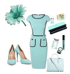 Elegant Tiffany blue outfit by Diva of Cake featuring polyvore fashion style Casadei Strathberry Tiffany & Co. Ippolita NOVICA NYX Beauty Is Life By Terry clothing