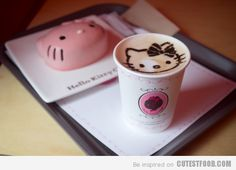 Hello Kitty Coffee Art   Cute Drinks   CutestFood.com