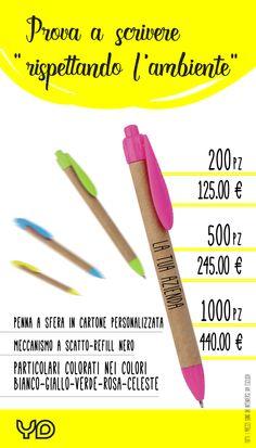 penne in cartone, personalizzabili con il logo dell' azienda o società