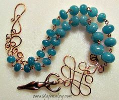 Idea: fancy wire wrapping at ends to become closures by 20 Amazing Handmade Jewelry Ideas