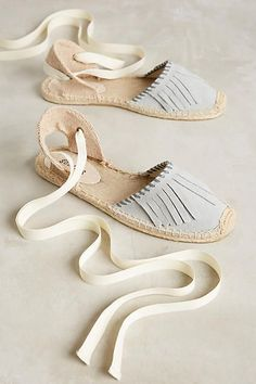 Tendance Chaussures   Anthropologie  Soludos Sheila Espadrilles Grey 8 Flats