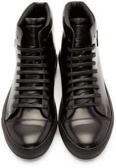 Acne Studios Black Adrian High-Top Sneakers Chaussure, Bottes Pour Hommes,  Automne Hommes 197820e2605