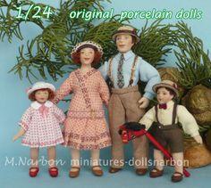 Muñecos originales de porcelana, por encargo, escala 1/24  de Maria Narbon