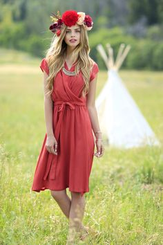 Shabby Apple Ivy Red Dress