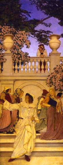 Maxfield Parrish - PRESENTATION PIECE FOR THE FLORENTINE FETE -A Call to Joy…