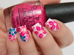 OPI Brights Summer 2015 Collection Reverse Stamp Nail Art