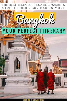 The perfect 4 day Bangkok itinerary featuring all the best temples floating markets museums sky bars and more. Find about making the most of your time in the Land of Smiles along with all the top things to see and do to make the most of 4 days in Bangkok. Bangkok Guide, Bangkok Itinerary, Thailand Travel Guide, Bangkok Travel, Visit Thailand, Asia Travel, Bangkok Thailand, Laos Travel, Beach Travel