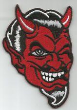 RED DEVIL FACE WINKING ROCKABILLY MOTORCYCLE LEATHER JACKET VEST BIKER PATCH