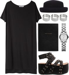 """Dark Summer"" by carocuixiao ❤ liked on Polyvore"