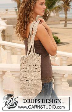 "Crochet bag in ""Bomull-Lin"" free pattern"