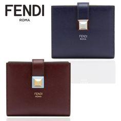FENDI フェンディ 二つ折り コンパクト 財布 スタッズ 全2色