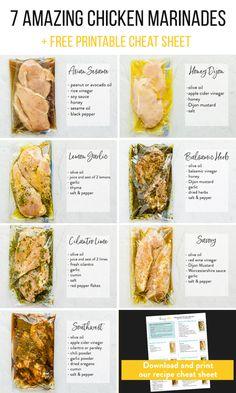 I Love Food, Good Food, Yummy Food, Tasty, Chicken Marinade Recipes, Recipe Chicken, Chicken Breast Marinades, Chicken Marinades For Baking, Chicken Beast Recipes