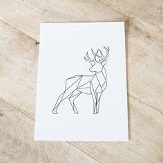 """Graphic animals """"Deer"""" Art print - Designed by Dieuwertje van der Linden"""