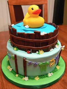 Duck Cake Decorations Uk : Party/Baby shower rubber ducky theme on Pinterest Rubber ...
