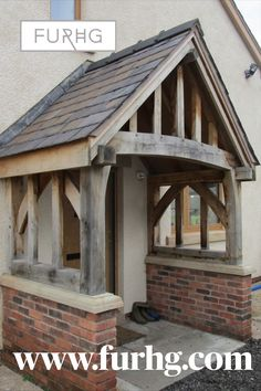 Leaded into render to finish. Nicely silvered porch. Solid Oak and handmade to size.