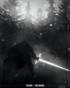 film noir style design of movie posters star wars the force awakens