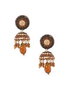 Classy Brown Lac Jhumki Earrings   Rs. 470   http://voylla.com
