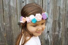 Fav: Felt Flower Crown for Spring/Easter