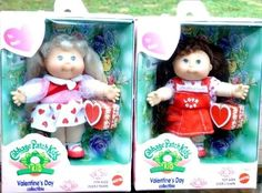 Valentine's Day Collectible Cabbage Patch Kids minis a pair of Valentine doll cuties