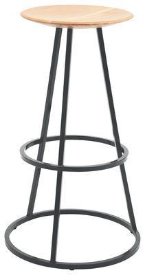Tabouret de bar Grand Gustave / H 77 cm - Bois & métal